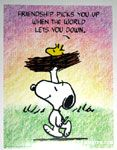 Snoopy Carrying Woodstock