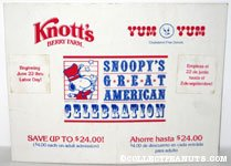 Knott's Berry Farm and Yum Yum Donuts Snoopy's Great American Celebration Card