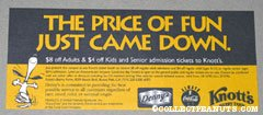 Knott's Berry Farm, Coca Cola and Denny's Admission Coupon