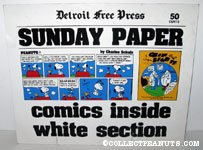 'Peanuts Comic Detroit Free Press Display