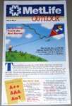 Charlie Brown with Flying Ace Snoopy Kite Metlife Outlook Newletter