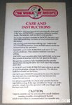 World of Snoopy Doll Care & Instruction Sheet