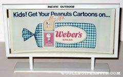 Peanuts Cartoons Stickers Weber's Bread Billboard Mockup