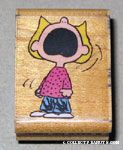 Sally Shouting Rubber Stamp