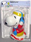 Snoopy Jogging with headset Squeaky Toy
