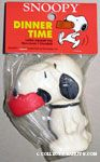 Snoopy with Dog Dish in Mouth Squeaky Toy