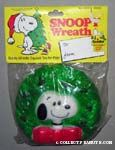 Snoopy and wreath dog squeak toy