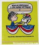 Linus swearing in President Snoopy Sticker