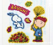 Snoopy and Charlie Brown Fall Stickers