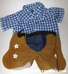 Snoopy Blue Cowboy Outfit