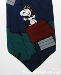 Snoopy Flying Ace on globe Necktie