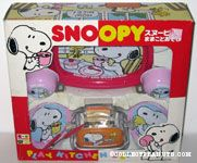 Snoopy & Woodstock drinking Tea Set & Toaster