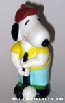 Snoopy Golfer Squeaky Toy