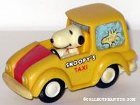 Snoopy's Taxi Friction Car