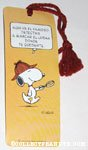 Snoopy detective Spanish Bookmark
