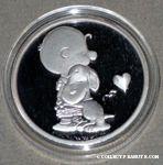 Snoopy hugging Charlie Brown