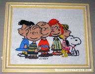 Peanuts Gang Standing Around Crewel Stitchery Picture
