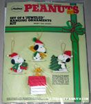 Snoopy & Woodstock Jeweled Felt Ornament Kit