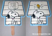 Snoopy & Woodstock by doghouse 'It's Nice to have a Friend' Fan