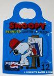 Snoopy laying on Pepsi Can Coaster