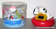 Snoopy on inner tube floating bath water Thermometer
