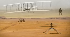 The 'Wright' material on Mars: Flyer material to fly again on Ingenuity helicopter