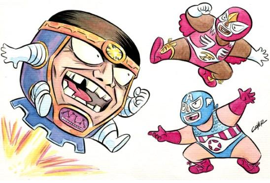 MODOK vs Luchadores