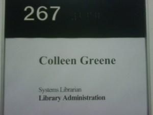 Going Greener! Got my new last name updated on my office door plaque!