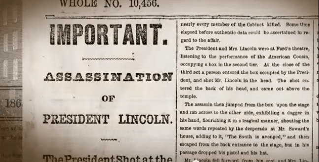 Newseum Video - Lincoln Assassination