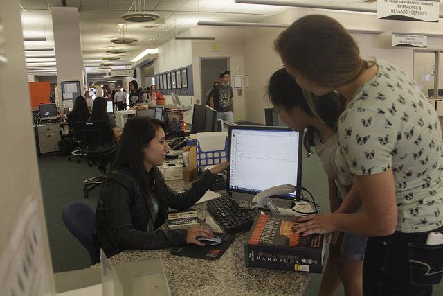 Pollak Library Students