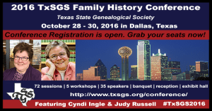 The TxSGS 2016 Family History Conference Offers 5 Classes Focusing on Hispanic Genealogy