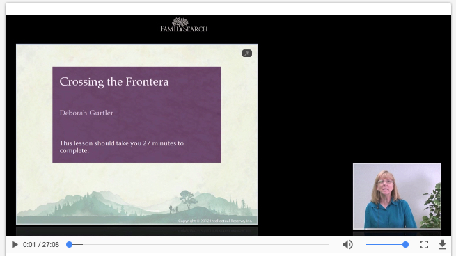 FamilySearch - Crossing the Frontera