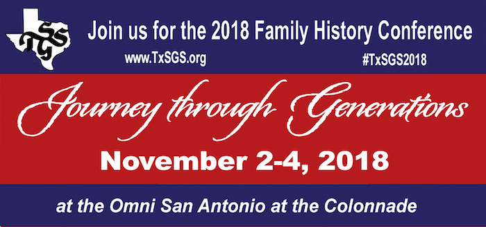 TxSGS 2018 Family History Conference