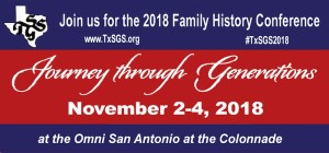I am Teaching Three Genealogy Classes at the TxSGS Conference in November