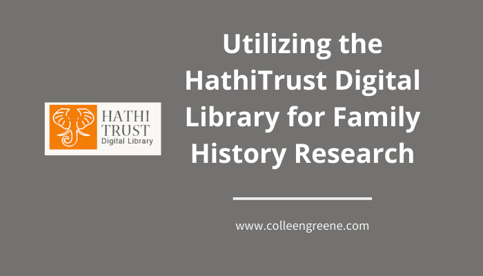 The HathiTrust is an incredible free resources for genealogy research.