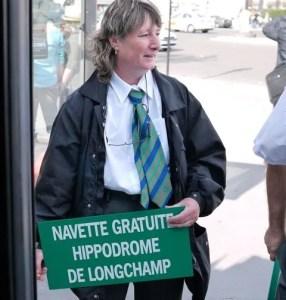 Free bus to Longchamps Qatar Arc de Triomphe