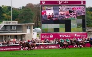 Horses win by a nose at the Qatar Prix de l'Arc de Triomphe