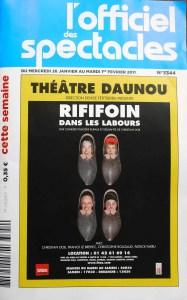 l'Officiel des spectacles - Paris weekly entertainment magazine