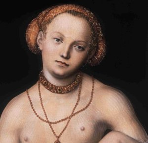 Allegory of Justice poster for Lucas Cranach exhibit Musee du Luxembourg