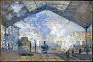 Claude Monet - Gare Saint Lazare Crédits photo © RMN (Musée d'Orsay) Hervé Lewandowski