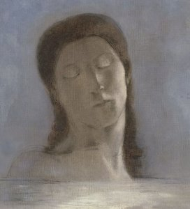 Closed Eyes (Yeux clos) 1890 oil, Musee d'Orsay
