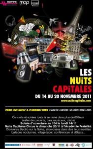 Les Nuits Capitales 14-20 November 2011 Paris
