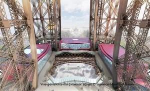 General view of first level platform, Eiffel Tower