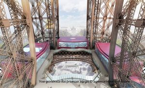 General view of first level platform, Eiffel Tower