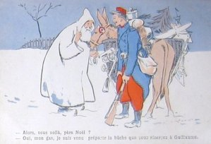 French Pere Noel (Santa) on a 1914 postcard