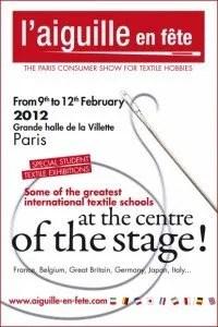 Paris Needlework Fair Poster Aiguille-en-Fete - English 2012