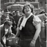 Paris merchant at Les Halles 1953, seems to recognize Robert Doisneau