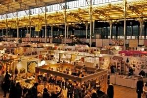 l'Aiguille en Fete, February 2012, needlework trade show, Grande Halle de la Villette, Paris