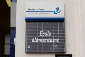 Nursery school or Kindergarten in France, voting place for a Bastille neighborhood