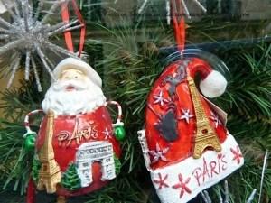 Paris Christmas ornaments - good souvenir